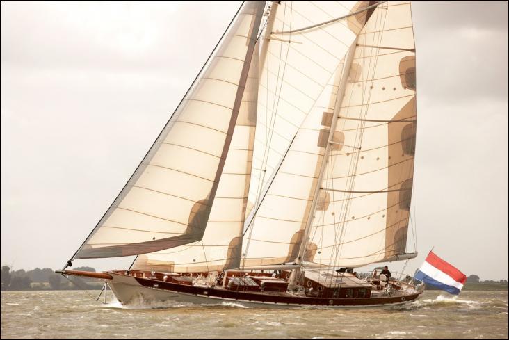 Le yacht Zaca est une goélette aurique