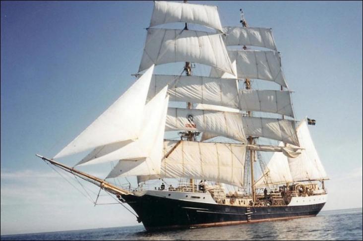 Le T/S Gunilla est un trois-mâts barque