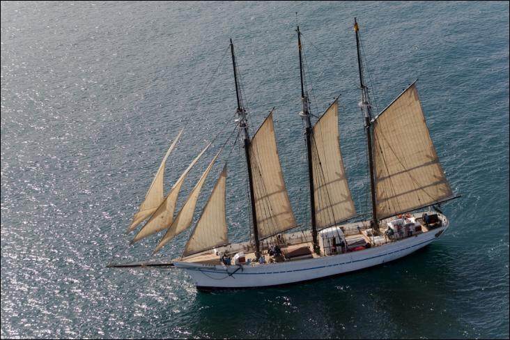 La Santa Eulàlia est une goélette à trois mâts espagnole