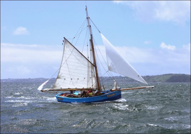 L'Amzer'zo est un cotre de la Baie de Morlaix