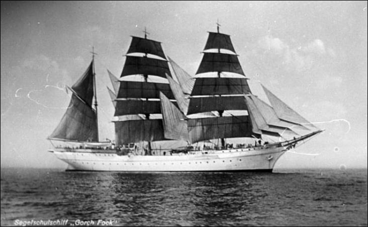 Le Gorch Fock est un trois-mâts barque
