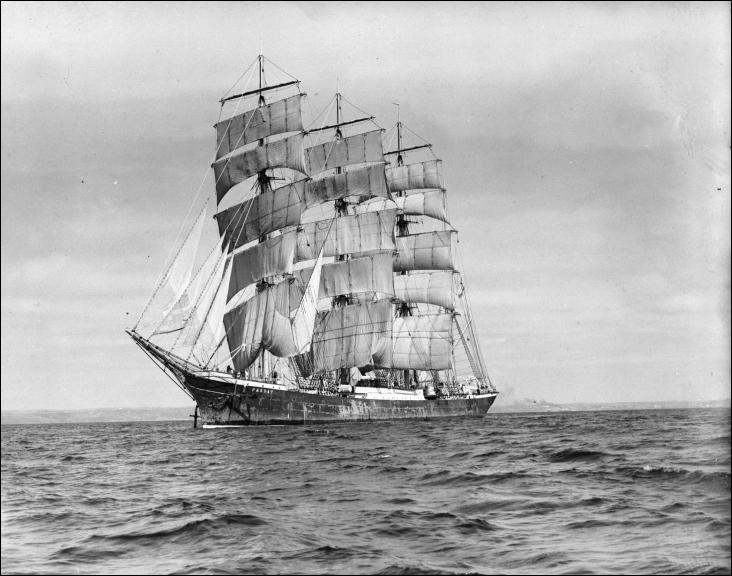 Le Passat, quatre-mâts barque, est l'un des Flying P-Liners