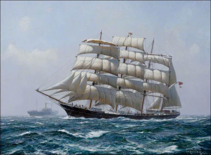 Le Garthpool est un quatre mâts barque