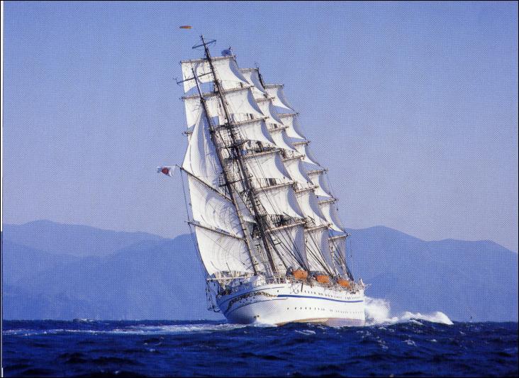 Le Nippon Maru II est un quatre-mâts barque