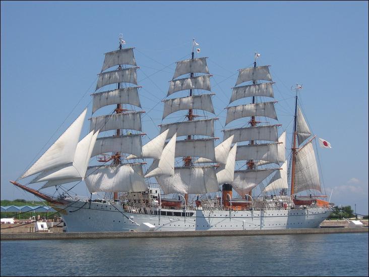 Le Kaiwo Maru est un quatre-mâts barque