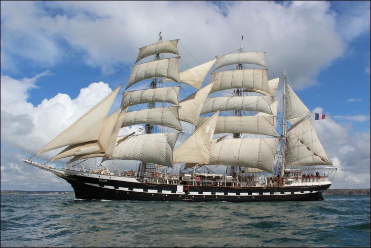 Le Belem un des plus anciens trois-mâts barque en Europe