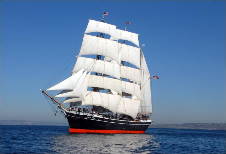 Le Star of India est un trois-mâts barque à coque en acier