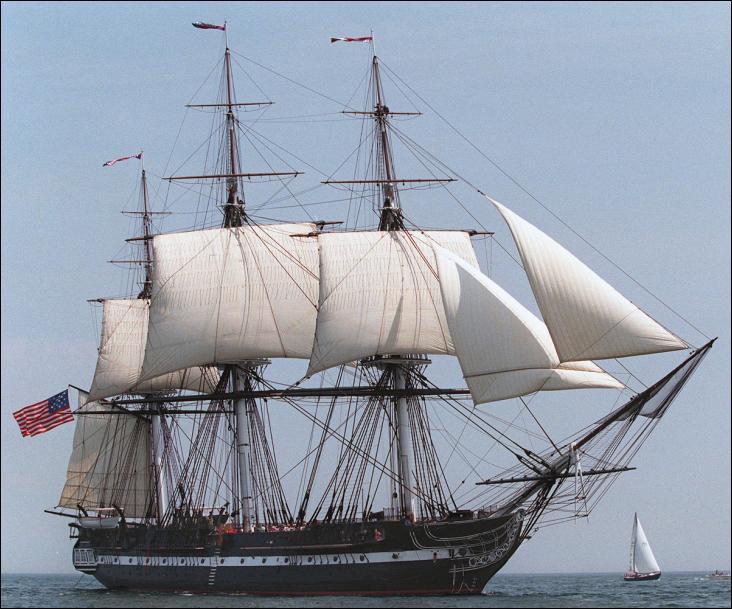 L'USS Constitution est une frégate en bois à trois-mâts