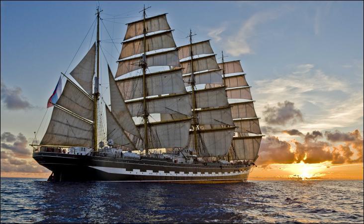 Le Krusenstern est un quatre-mâts barque russe