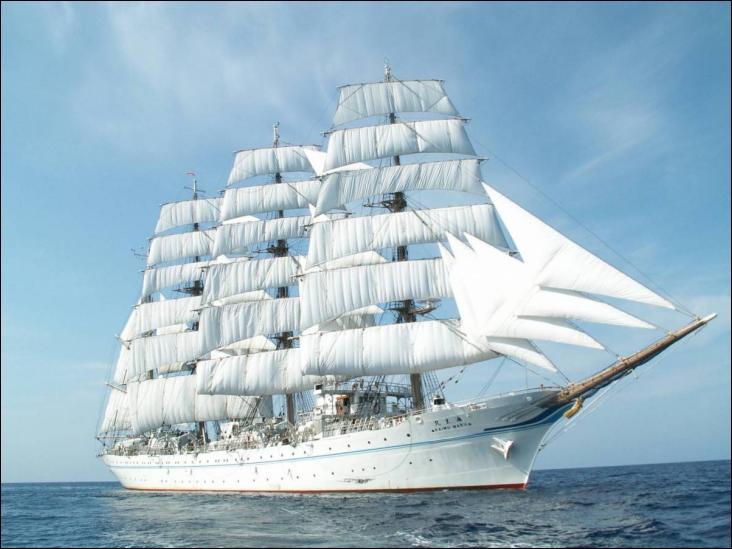 Le Kaiwo Maru II quatre-mâts barque