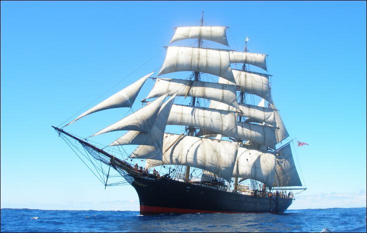 Le James Craig est un trois-mâts barque australien
